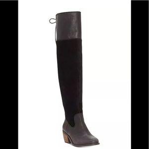 Lucky Brand Komah Over The Knee Boots 7 Wide Calf